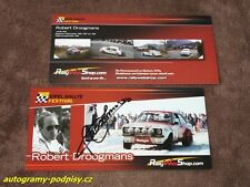 Robert DROOGMANS - original autogramm, FORD Escort RS 1800 Karte/card 10x21 cm