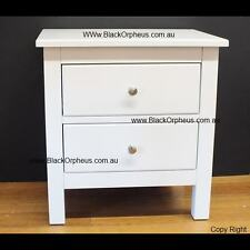 White Bedside Table, Small Chest Drawers, White Timber Bedside, Storage Unit