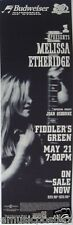 Melissa Etheridge 1995 Denver Concert Tour Poster - Joan Osborne/Heartland Rock