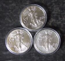 Lot: Three American Silver Eagle Coins: 2013, 2015, 2016 - No Reserve