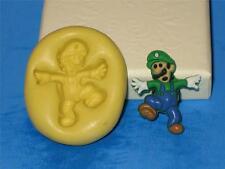 Luigi Super Mario Bros Push Mold Silicone Cake Chocolate Resin Clay A365