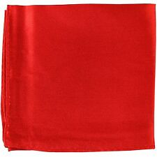 New MANZO Men's Polyester Shiny Finish Pocket Square Hankie Only Red formal