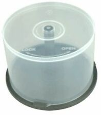 5 CD DVD Plastic Cake Tubs holds 50 Disks Spindle Storage Boxes Empty NEW Case