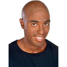 Bald Head Cap Dark Latex Flesh Skin African American Mens Costume Brown Adult