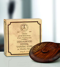 Taylor of old Bond Street Rasierseife Sandalwood Soap Sandelholz Holzschale 100g