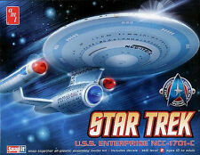 STAR TREK USS ENTERPRISE 1701 C 1/2500 SCALE SNAP MODEL KIT