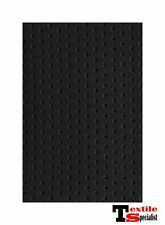 "BLACK PERFORATED MARINE OUTDOOR AUTO FABRIC BOAT UPHOLSTERY 54""W VINYL BY THE YD"