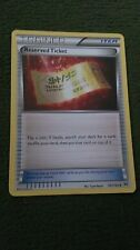 Reserved Ticket Pokemon Card UNCOMMON Trainer [BREAKthrough]
