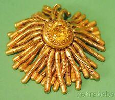 Vintage Depose France Dress Clip Pin Brooch w Metal Fringe