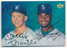 MICKEY MANTLE KEN GRIFFEY JR. 1994 UPPER DECK DUAL ON CARD AUTOGRAPH SP AUTO UDA