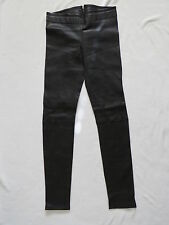 C.R.A.F.T. Womens Jeans, Leather Look Black, European Size 27 Brand New CRAFT
