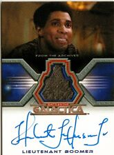 Battlestar Galactica Colonial Warriors Auto Costume Card Herbert Jefferson Jr.