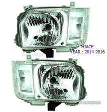 SET Front Head Lamp Light Replacement For Toyota Hiace Commuter Van 2015 2016