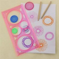 1X Spirograph Geometric Ruler Drafting Tools Stationery For Students Drawing Set