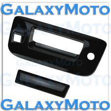 07-13 Chevy Silverado Gloss Black Tailgate+Keyhole+Camera Hole Handle Cover