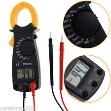Portable AC DC Voltage LCD Digital Clamp Multimeter Electronic Tester Meter
