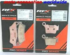 RFX PRO SERIES FRONT & REAR BRAKE PADS FOR HUSQVARNA TE125 TE250 TE300 2016 2017