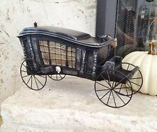 Halloween HEARSE PROP Gothic Funeral Carriage Decoration Haunted NWT