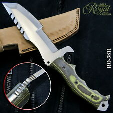 "12"" ROYAL HAND FORGED D2 STEEL TRACKER KNIFE - FULL TANG - RO-3811"