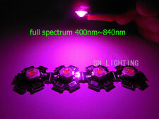 50pcs 3W full spectrum 380nm~840nm led bead grow lights for hydroponics with PCB