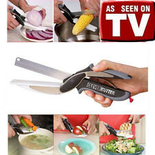 As Seen On TV Multifunctional Knife Clever Cutter 2-in-1 Cutting Board Scissors