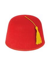 New Adult Red Fez Moroccan Turkish Hat Tommy Cooper Fancy Dress Up Xmas!