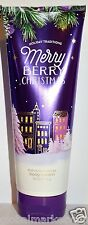 Bath & Body Works Holiday Traditions MERRY BERRY CHRISTMAS  SHEA BODY CREAM