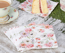 Floral Canape Napkins x 16 - Perfect For Summer Parties & Afternoon Tea
