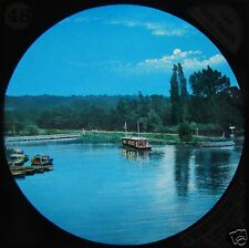 HAND COLOURED Glass Magic Lantern Slide RIVER THAMES NO22 C1890 PHOTO ENGLAND
