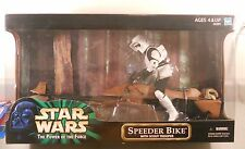 Star Wars Power Of The Force 12 inch Speeder Bike With Scout Trooper NEW