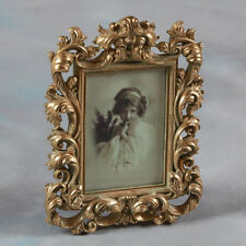 "Ornate Antique Gold Baroque Style Photo Photograph Picture Frame 7 ""x5"" Gift"