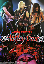 Motley Crue 1990 Dr. Feelgood Japan Tour Promo Poster Nikki Sixx Tommy Lee Rare