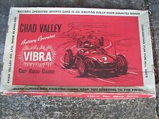 """VINTAGE CHAD VALLEY """"VIBRA"""" BATTERY POWERED RACING CAR SET (QUITE RARE)"""