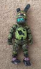 """MEXICAN TOY FIGURE SPRINGTRAP GREEN NIGHTMARE FIVE NIGHTS FREDDYS 8"""" APROX NEW"""