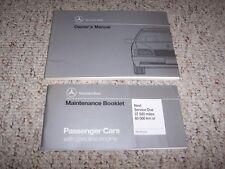 1993 Mercedes Benz 300SE 400SEL 500SEL Original Owner's Owners Manual Set