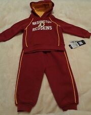 NWT Washington Redskins Sweat Shirt Suit Pants Hoodie Toddler Boys Kid