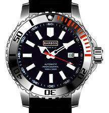 "BARBOS ""MARINE BLUE"" AUTOMATIC WR 3300ft/1000m MENS DIVER WATCH."