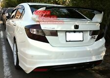 Unpainted Honda 2012~2014 Civic Sedan 4D LIMIT trunk spoiler 3pcs ◎