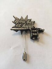 You Bet It Hurt A111  English Pewter on a tie stick pin hat scarf collar