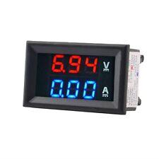 Digital Voltmeter Amperemeter DC 0-100V 10A  LED Spannungsmesser Ammeter