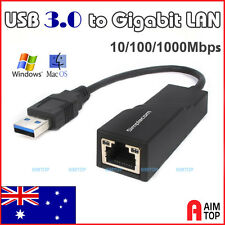 USB 3.0 Gigabit Ethernet LAN RJ45 Adapter 10/100/1000Mbps for Macbook Air / PC
