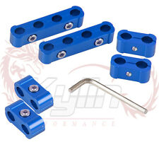 Kylin 6PCS SPARK PLUG WIRE BILLET SEPARATOR DIVIDER CLAMP V8 V6 8MM 9MM 10MM