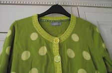 PER UNA - GREEN / YELLOW SPOTTED CARDIGAN - SIZE 10