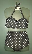 MAILLOT DE BAIN SWIMSUIT  2  PIECES RETRO FIFTIES T 34 / 36 85/90 B