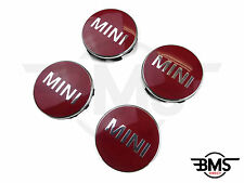 New BMW MINI One / Cooper / S Chilli Red Wheel Centre Badge Hub Caps X4 F55 F56