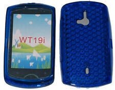 TPU Soft Pattern Gel Case Cover BLUE For Sony Ericsson Live With Walkman WT19i
