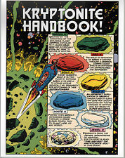 Superman KRYPTONITE HANDBOOK PRINT Red Gold Blue White Jewel K Green