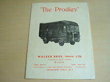 "WALKER BROTHERS PAGEFIELD ""THE PRODIGY"" REFUSE TRUCK BROCHURE - MARCH 1946"