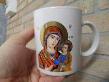 Joli mug tasse ceramique deco design religieux Icone Vierge et l'enfant jesus
