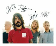 FOO FIGHTERS SIGNED AUTOGRAPHED A4 PP PHOTO POSTER